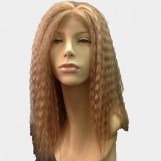 Lace Front Wig - Blonde And Light Brown Mix Kinky Curl Long